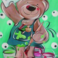 Je suis peintre… | peinture, toile, enfant
