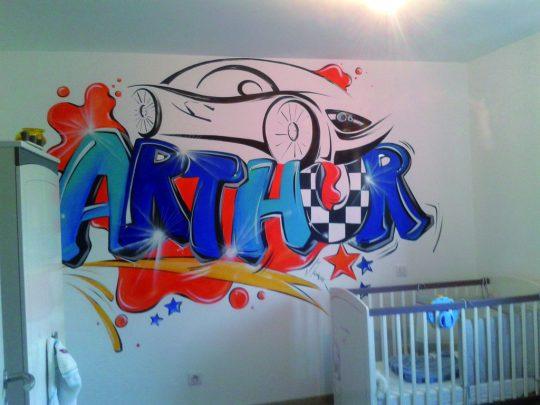 fresque voiture